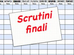 Scrutini-Valutazioni finali - Anno scolastico 2018/2019